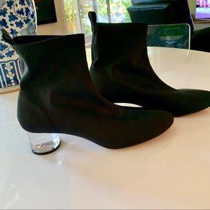Zara Ankle Booties with Transparent Heel